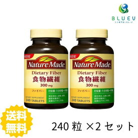 【送料無料】 大塚製薬 NATURE MADE ネイチャーメイド ファイバー 食物繊維 24日分(240粒) ×2セット