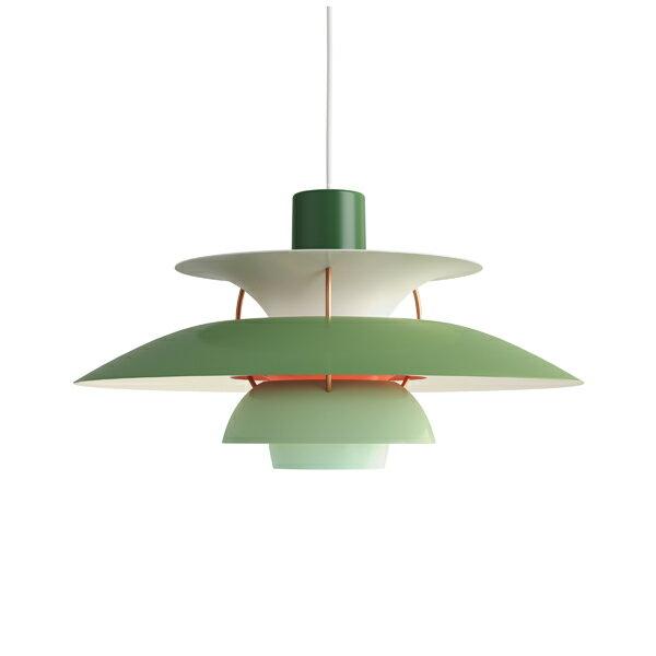 ≪当店在庫あり≫PH5 グリーン・グラデーション (LED電球付) (緑)プレゼント付(白熱電球150W/簡単調節コードリール)
