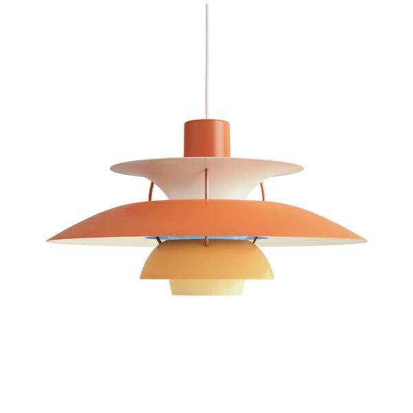 ≪当店在庫あり≫PH5 オレンジ・グラデーション (LED電球付) (橙)プレゼント付(白熱電球150W/簡単調節コードリール)