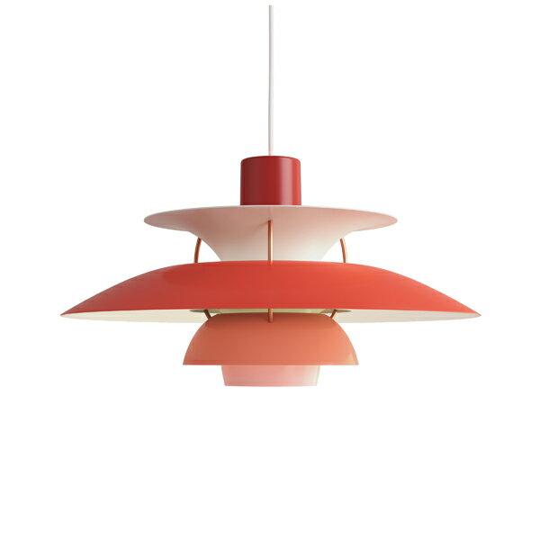 ≪当店在庫あり≫PH5 レッド・グラデーション (LED電球付) (赤)プレゼント付(白熱電球150W/簡単調節コードリール)