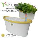水耕栽培キット ホームハイポニカ Karen(カレン) イエロー ハイポニカ肥料付