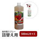 詰替え用 天然物100% 無農薬 虫対策スプレー 専用容器スプレー5回分でお得
