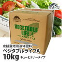 水耕栽培用液体肥料 VEGETABLE LIFE A (ベジタブルライフA) 大容量 10kg (約10L分) 業務用 信頼の大塚ブランド 水耕栽培肥料