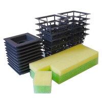 果菜用培地・鉢・鉢カバーセット10個組み、ホームハイポニカ601・303専用