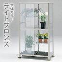 【10月中発送可能】グリーン室内温室1号(FHB-1508S) ライトブロンズ ■直送■