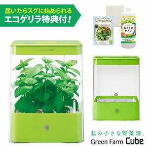 水耕栽培器 Green Farm Cube グリーンファーム キューブ (グリーン) インテリア としても楽しめるコンパクトなLED 水耕栽培キット ! ユーイング UH-CB01G1-G