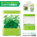 水耕栽培器 GreenFarmCube グリーンファーム キューブ (グリーン) インテリア としても楽しめるコンパクトなLED 水耕栽培キット ! ユ…