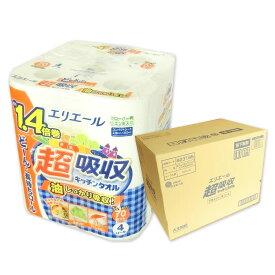 エリエール 超吸収キッチンタオル 70カット 48ロール(4ロール×12パック)【大王製紙】【823195】