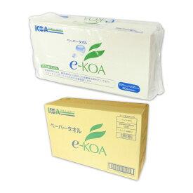 e-KOA エコア ペーパータオル 200枚 60パック(30パック×2ケース)【興亜工業】【縛り】