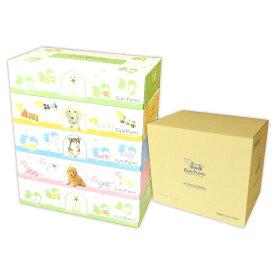 Cute Puppy 子犬 ティッシュペーパー 150組 60箱(5箱×12パック)【田子浦パルプ】【tmp】