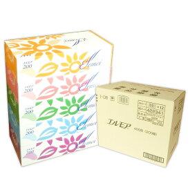 エルモア ティシュー 200組 60箱(5箱×12パック)【カミ商事】【422341】