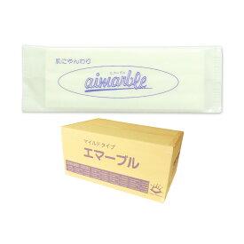 エマーブル マイルド 紙おしぼり 平型 1200枚(100枚×12パック)【東京クイン 杉山】