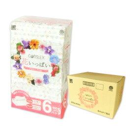 花いっぱい ティッシュペーパー 200組 60個(6個×10パック)【コアレックス CORELEX 信栄】