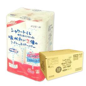 エリエール シャワートイレのためにつくった吸水力が2倍のトイレットペーパー フローラルブーケの香り 25m ダブル 72ロール(12ロール×6パック)【大王製紙】【823292 kzh】