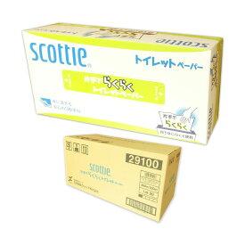 スコッティ 片手でらくらくトイレットペーパー 3枚重ね 100組 × 20箱 【日本製紙クレシア】【29100】