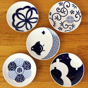 KIHARA(キハラ)KOMON季節文様豆皿5枚セット