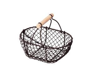 【3,980円以上購入で送料無料】【ギフト包装用かご】籐のある生活 Wire(ワイヤー)-お菓子ラッピング用品-バスケット「80-62」【バスケット容器・カゴ籠・basket】