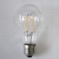 LED電球E2650W相当600LMフィラメント一般電球6Wクリア広角360度LED電球E26LED電球電球色E26-6WA-Y