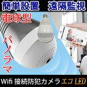 防犯カメラ E26電球型 魚眼レンズ広角360度 無線IP WEB監視カメラ ネットワークカメラ ベビーモニター ペットモニター 遠隔 暗視 屋内 DQ-IPC2