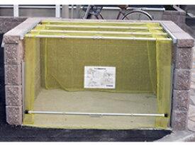 ゴミステーション 大型ゴミ箱 送料無料 お客様組立 ダイケン クリーンストッカー ネットタイプ CKA-1616