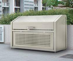 ゴミステーション 大型ゴミ箱 シコク ゴミストッカー PS型基本セット GPS-1812-08SC [自治会/町内会/設置/屋外/カラス/対策/猫/大容量/ごみ/ゴミ箱]