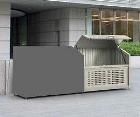 ゴミステーション 大型ゴミ箱 【連棟ユニットの為単体でのご使用不可】シコク ゴミストッカー PS型連棟ユニット GPS-1812-08SC [自治会/町内会/設置/屋外/カラス/対策/猫/大容量/ごみ/ゴミ箱]
