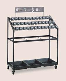 テラモト ダイヤルロック式 キーレス傘立トレス 36本収納 組立式 UB-269-036-0 ※受注生産品 ※お客様組立品