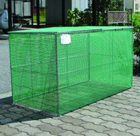 【エリア限定送料無料】カンエツ ゴミステーション 大型ゴミ箱 サビに強いステンレス枠 折り畳み式ごみ収集ボックス K-120