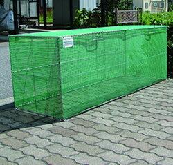 【エリア限定送料無料】カンエツ ゴミステーション 大型ゴミ箱 サビに強いステンレス枠 折り畳み式ごみ収集ボックス K-180