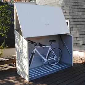 ガーデナップ 自転車2台収納可能なサイクルガレージ! 英国製自転車倉庫 TM3 クリーム色 ※お客様組立品 送料無料