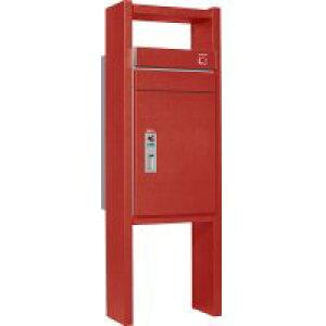 ユニソン 戸建用宅配ボックス コルディアラック 100 右開きタイプ 前入後出 レザーレッド色