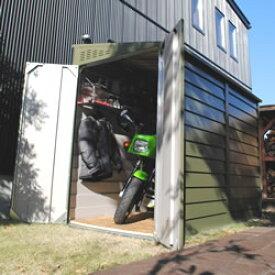ガーデナップ サイクルガレージ 英国製メタルシェッド 自転車倉庫・物置 TM2 ペントルーフ オリーブグリーン ※お客様組立品 送料無料