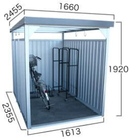 【ダイマツ×環境生活】ダイマツ多目的万能物置 DM-11L 壁面パネルロング型 幅1660×奥行2455×高さ1920mm エリア限定送料無料