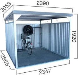【ダイマツ×環境生活】ダイマツ多目的万能物置 DM-20L 壁面パネルロング型 幅2390×奥行3053×高さ1920mm エリア限定送料無料