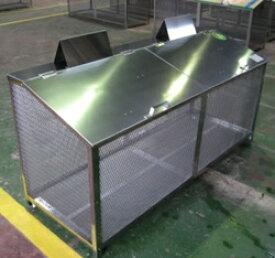 ステンレス光 ゴミステーション 大型ゴミ箱 エリア限定送料無料 【完成品】ステンレス製ゴミ収納BOX ワンニャンカア (ステンレスSUS304使用)奥行50cmタイプ B-180 幅1800×奥行500×高さ850mm