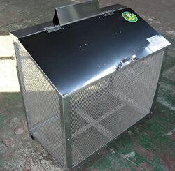 【完成品】ステンレス製ゴミ収納BOXワンニャンカア(ステンレスNSSCFFW2使用)奥行50cmタイプBH-90幅900×奥行500×高さ850mm