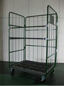 株ダイカ 輸送機器 床板プラスチック製カゴ車(500kgタイプ) W1100×D800×H1700mm ELS-P5