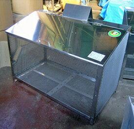 ステンレス光 ゴミステーション 大型ゴミ箱 エリア限定送料無料 ステンレス製ゴミ収納BOX ワンニャンカア (ステンレスNSSCF FW2使用)奥行65cmタイプ FH-120M 幅1200×奥行650×高さ850mm