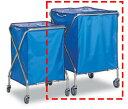 テラモト ゴミステーション 大型ゴミ箱 回収・運搬用カート ダストカーSD(袋セット) 大 236リットル