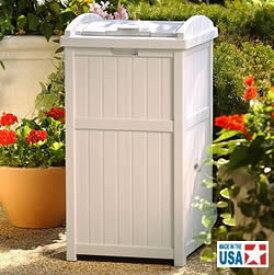 サンキャスト ウッディーダストボックス(ホワイト) Trash Hideaway GH1732 [アミューズメント/パーク/施設/設置/業務用/分別/ごみ/ゴミ箱]