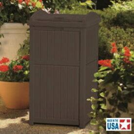 サンキャスト ウッディーダストボックス(ブラウン) Trash Hideaway GH1732 [アミューズメント/パーク/施設/設置/業務用/分別/ごみ/ゴミ箱]