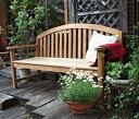 【エリア限定送料無料】ジャービス レインボーベンチ 36604 チーク 無塗装 ガーデン用