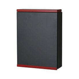【送料無料】オンリーワン 郵便ポスト アイル 壁掛け レッド ダイヤル錠 大型配達物対応 NL1-P57RD