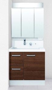 【送料無料】LIXIL リクシル INAX K1H4-755SY+MK1X3-753TXSU 洗面化粧台セット K1シリーズ 片引出タイプ 間口750mm 3面鏡全収納タイプ