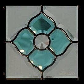 遮音・断熱・防犯性のステンドグラス ピュアグラス Dサイズ 200mmスクエア SH-D03 [ステンドグラス/ガラス/インテリア/窓/小窓/室内/屋内]