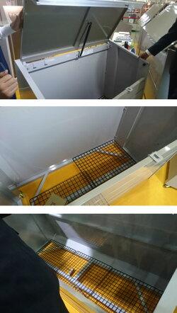ゴミステーション大型ゴミ箱イナバゴミステーションダストボックス・ミニメッシュ床タイプ400LDBN-106M[自治会/町内会/設置/屋外/カラス/対策/猫/大容量/ごみ/ゴミ箱]