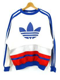 【中古】adidas アディダス トレーナー マルチボーダー アディダスカップ ロゴ 80年代後半 台湾製
