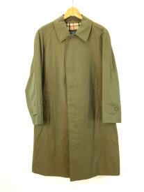 【中古】Burberrys バーバリーズ ステンカラーコート 165cm 玉虫色 ライトグリーン