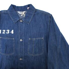 【中古】【新古品】FIVEBROTHER L/Sデニムワークシャツ