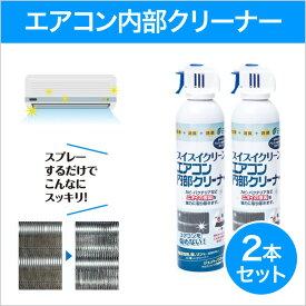 スイスイクリーン エアコン内部クリーナー 2本セット アルカリ電解水をジェット噴射で洗浄 除菌 消臭 無香料 洗浄スプレー エコワン